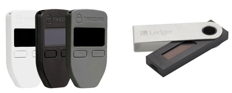 مقایسه کیف پول سخت افزاری TREZOR با Ledger Nano S