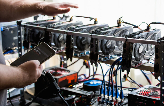 نمونه ای از سخت افزار استخراج بیت کوین