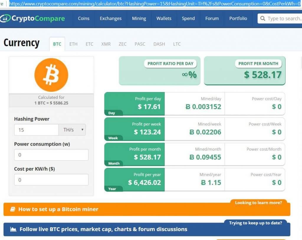 تصویری از وبسایت CryptoCompare