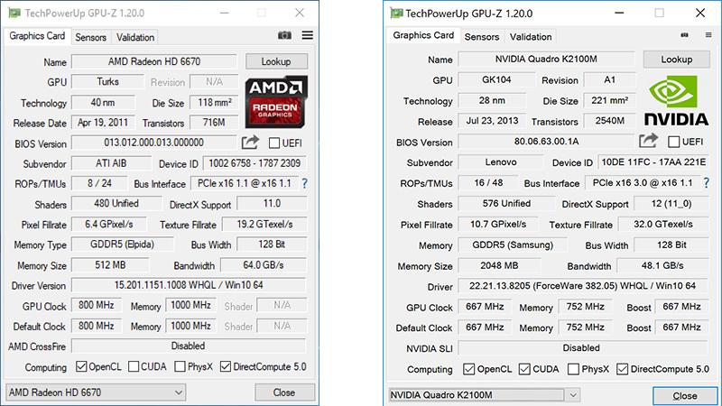 محیط نرم افزار GPU-Z که جزئیات پردازنده گرافیکی شما را نمایش می دهد