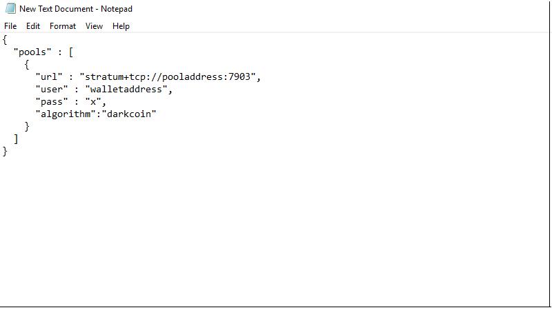 فرمت عمومی جهت تنظیمات استخراج دش از طریق GPU