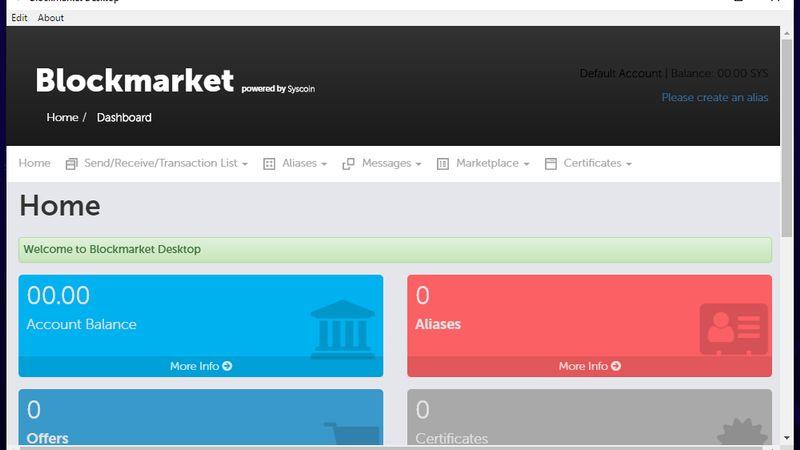 کیف پول رسمی Blockmarket Desktop Wallet