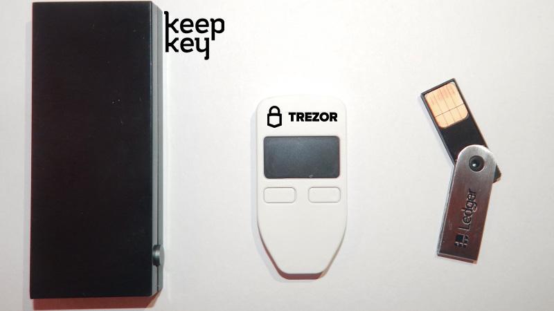 KeepKey در مقایسه با لجر نانو اس و TREZOR