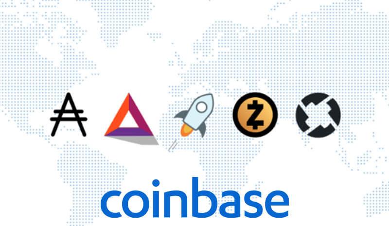 پشتیبانی صرافی Coinbase از پنج ارز دیجیتال جدید