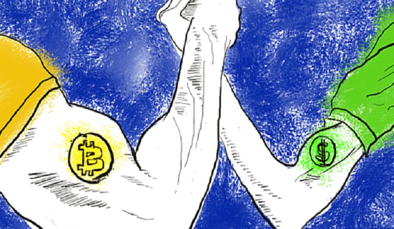 دلار یا بیت کوین