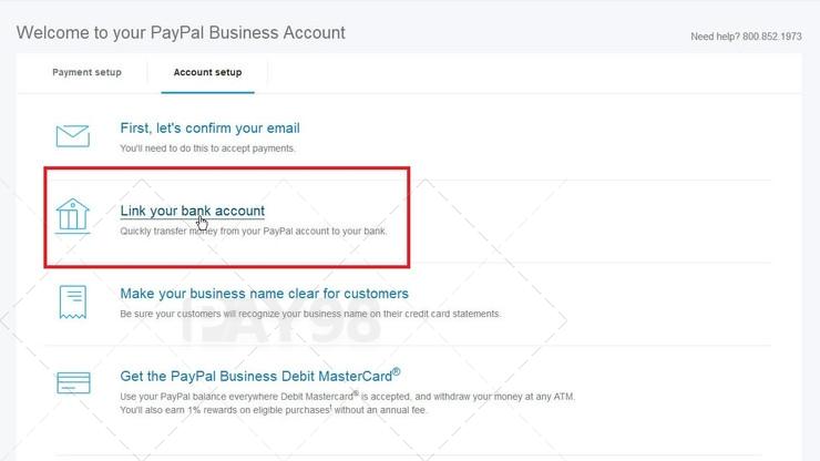 اتصال حساب بانکی به پی پال