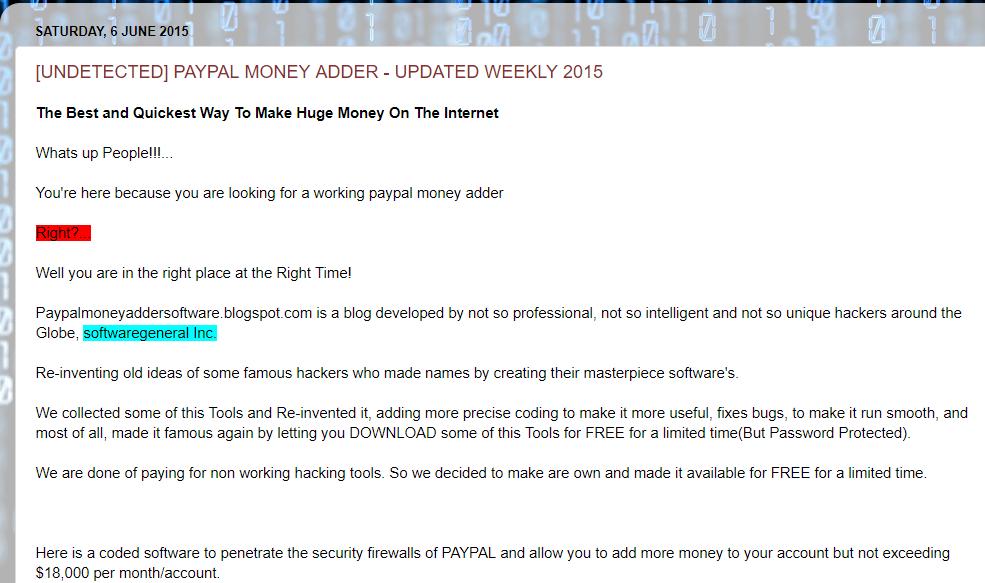 برنامه PayPal Money Adder