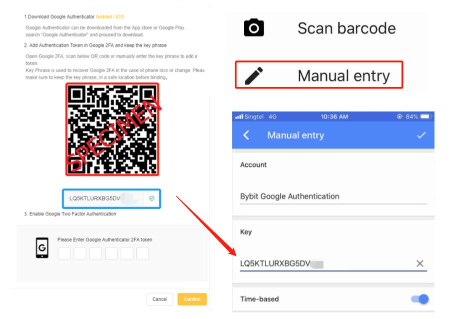 وارد کردن کد امنیتی تایید دو مرحله ای