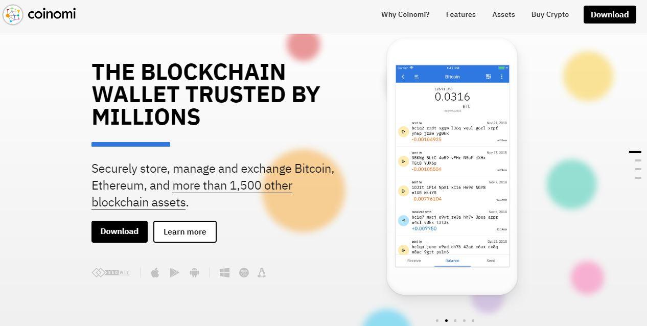 وب سایت coinomi