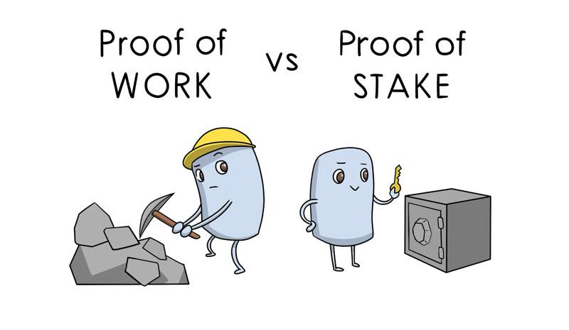تفاوت اثبات کار با اثبات سهام