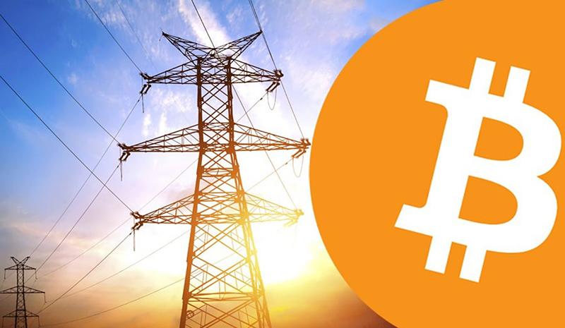 مصرف برق و بیت کوین