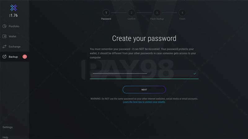 تنظیمات رمز عبور
